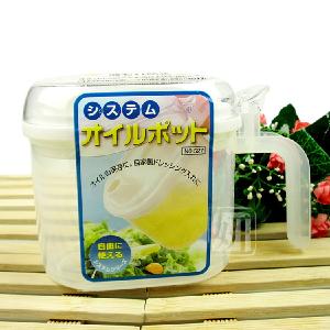 日本原装进口油壶 有盖油壶 储油壶 调味壶 调味罐 方便卫生 7002