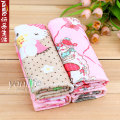 韩国 4P印花多用纤维抹布/小毛巾 吸水小方型毛巾 一包4条