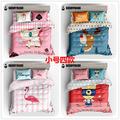韩国杯具熊儿童成人通用四件套纯棉床单被罩枕套 小号