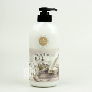 韓國原装正品水果之乡牛奶精华身体乳/浴后乳 500G 滋养美白