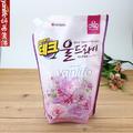 韩国进口LG洗衣液 易冲洗 对皮肤无刺激 防止衣物变形 1300ml粉色