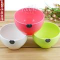 日本 糖果色汤碗  厨房用品塑料碗圆口碗  汤碗 饭碗