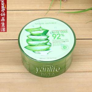 韓國 NATURE REPUBLIC 自然樂園92%芦荟胶补水祛痘印面膜 300ML