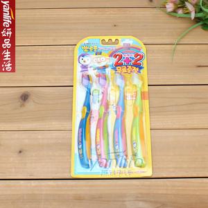 韩国Pororo 微笑的啵乐乐 小企鹅儿童牙刷4支装 二段 3-5岁