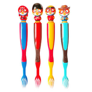 韩国进口pororo宝露露小企鹅儿童牙刷 双重细毛 卡通头新款 3岁以上