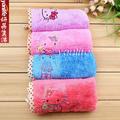 韩国DY 卡通KT长毛绒小方巾 卡通擦手巾 纤维小方巾 方形毛巾