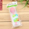 日本  塑料勺 彩色勺子 野餐方便餐勺 配防尘盒 4件套
