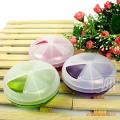 日本原装进口旋转式3格药盒 多用途收纳盒/首饰盒/收纳药盒 多色