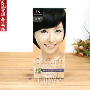 韓國原装进口水果之乡 可芬CONFUME 染发剂/染发膏 黑色 1N