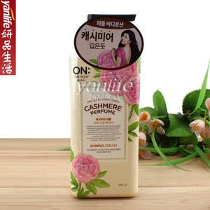 韓國LG ON THE BODY 月季花香水快樂微風身體乳 400ml